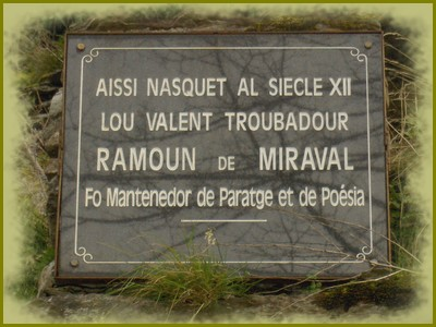 Plaque de Raymond de Miraval