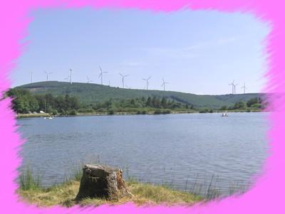 Le lac et les éoliennes